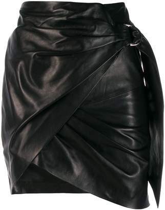 IRO asymmetric mini skirt