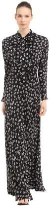 Tory Burch Floral Silk Crepe De Chine Maxi Dress