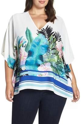Evans Tropical Caftan Blouse