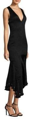 Jason Wu Satin Cloque Asymmetric Dress