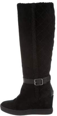 Aquatalia Over-The-Knee Wedge Boots