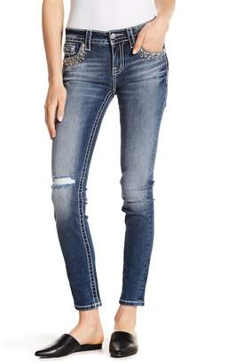 Miss Me Embellished & Distressed Skinny Jeans