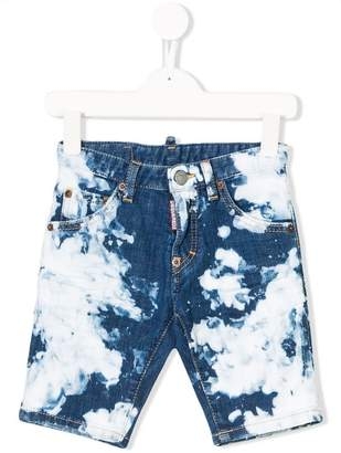 DSQUARED2 acid wash denim shorts