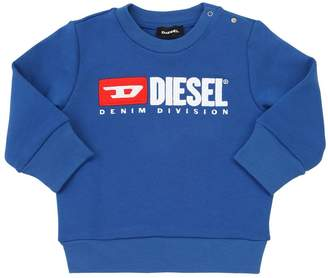 Diesel Flocked Logo Cotton Sweatshirt