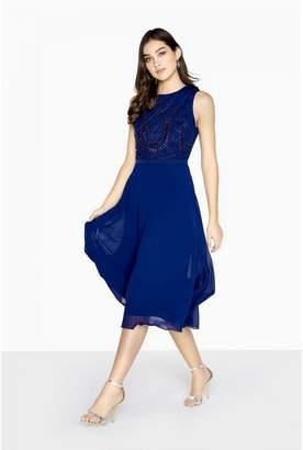 Little Mistress Womens/Ladies Zara Beadwork Midi Prom Dress