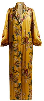 Johanna Ortiz The Flower Queen Silk Robe - Womens - Yellow