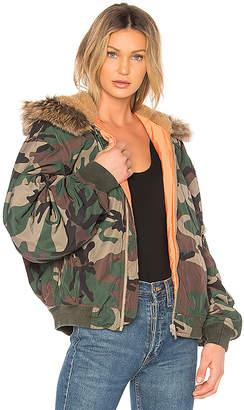 Yeezy Season 5 Hood Bomber With Faux Fur