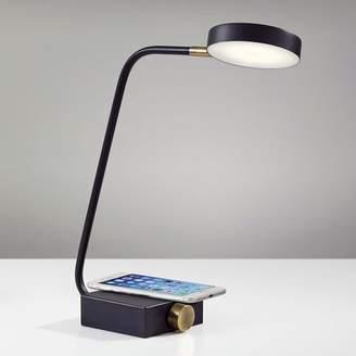 west elm Industrial Metal LED Charging Task Lamp - Black