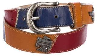 Carlos Falchi Leather Charms Belt