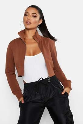 boohoo Cropped Zip Front Jacket