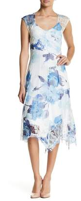 KOMAROV Floral Cap Sleeve Dress $335 thestylecure.com