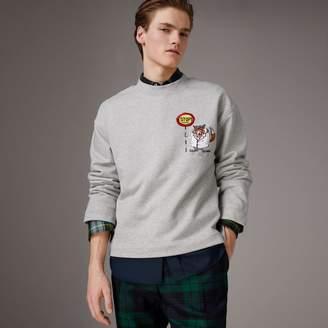 Burberry Sketch Print Cotton Jersey Sweatshirt