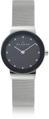 Skagen Freja Black Stainless Steel Mesh Bracelet Women's Watch
