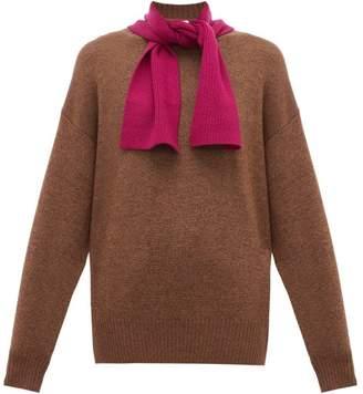 See by Chloe Tie Neck Wool Sweater - Womens - Beige