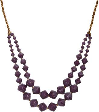 """3.1 Phillip Lim Bits Double Layer Beaded 30"""" Voyager Necklace"""