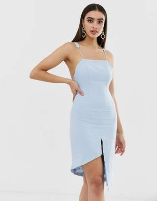 042086a968 Missguided Peace And Love Low Back Cami Strap Dress