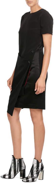 DKNYDKNY Dress with Satin and Asymmetric Hemline