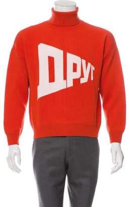 Gosha Rubchinskiy Oversize Graphic Knit Sweater w/ Tags