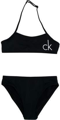 Calvin Klein Kids logo print bikini