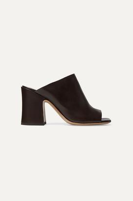 Dries Van Noten Leather Mules - Brown
