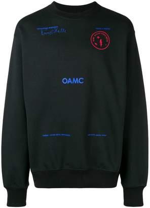 Oamc プリント スウェットシャツ