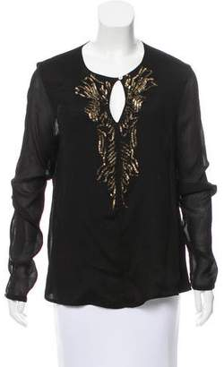 DAY Birger et Mikkelsen Sequined Long Sleeve Blouse