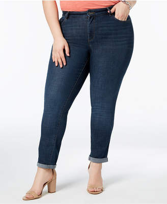 INC International Concepts I.n.c. Plus Size Tummy-Control Boyfriend Jeans, Created for Macy's