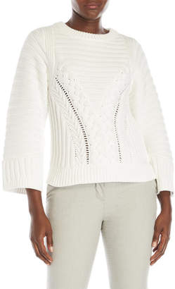 pink tartan Mixed Stitch Sweater $395 thestylecure.com