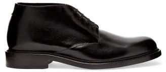Saint Laurent Army Leather Derby Shoes - Mens - Black