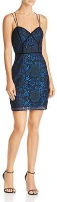 GUESS Adina Metallic-Lace Dress