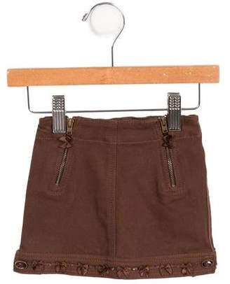 Blumarine Girls' Bow-Accented Mini Skirt w/ Tags