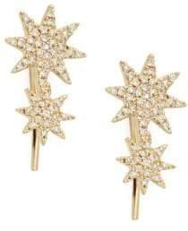 Saks Fifth Avenue 14K Yellow Gold & Diamond Crawler Earrings