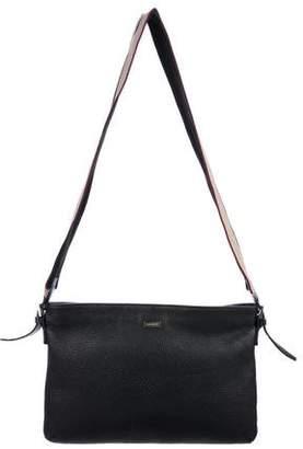 Burberry Leather Zip Messenger Bag