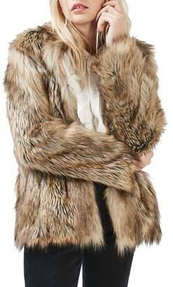 Topshop Ultimate Faux Fur Coat