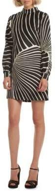 Trina Turk Sake Adachi Print Silk Shift Dress