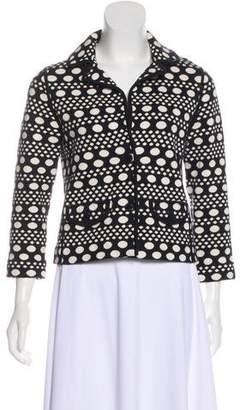Tory Burch Polka Dot Knit Jacket