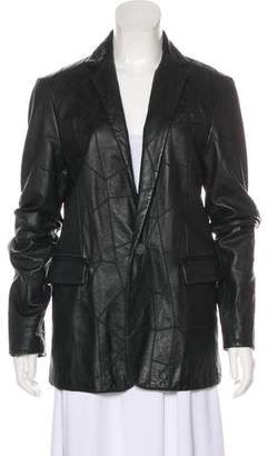 Just Cavalli Quilted Leather Blazer