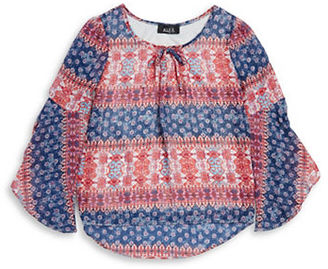 Ally B Girls 7-16 Hi-Lo Peasant Top $32 thestylecure.com