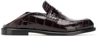 Loewe crocodile effect loafers