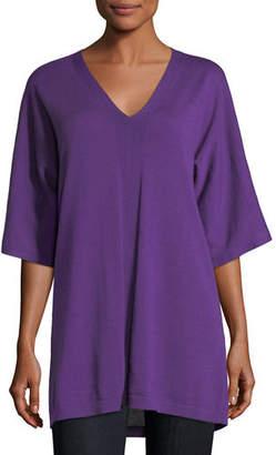 Eileen Fisher V-Neck Merino Jersey Tunic