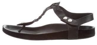 Isabel Marant Leather Braided Sandals
