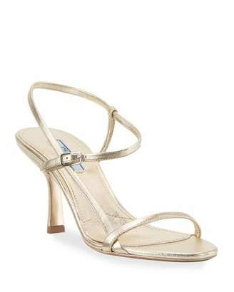 Prada Metallic Strappy 75mm Sandals