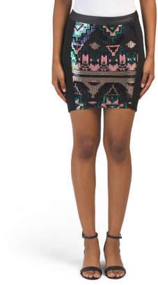 Juniors Aztec Embellished Skirt