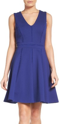 Women's Adelyn Rae Ponte Fit & Flare Dress $110 thestylecure.com