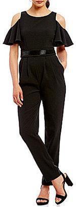 Eliza J Cold Shoulder Jumpsuit $158 thestylecure.com