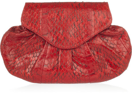 Angel Jackson Candy snakeskin clutch
