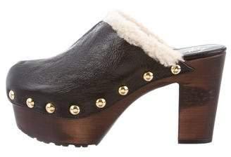 Giuseppe Zanotti Leather Platform Mules