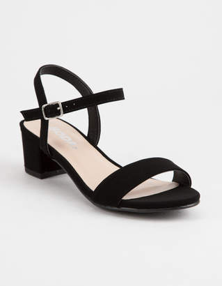 Soda Sunglasses Ankle Strap Girls Heeled Sandals
