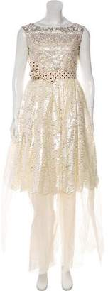 Antonio Marras Lace Evening Gown