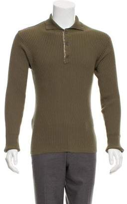 Dolce & Gabbana Rib Knit Mock Neck Sweater